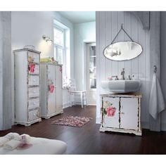 Ideal Waschbeckenunterschrank Rose ein Einlegeboden Vintage Look