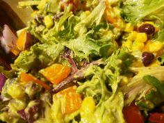 Krémes avokádó öntet Seaweed Salad, Cobb Salad, Ethnic Recipes, Food, Essen, Meals, Yemek, Eten