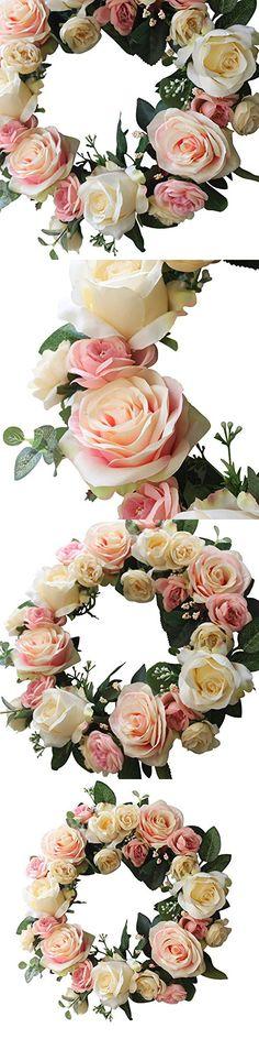 Rose Wreath Home Wall Decor Wedding Decorations