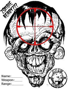 Free Online Printable Shooting Targets | Zombie Shooting Target by ~Guam-Zombie on deviantART