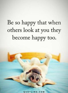Happiness Quotes Be so happy that when others look at you they become happy too.