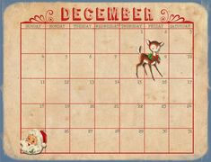 Calendar for Download by Marie Lottermoser!