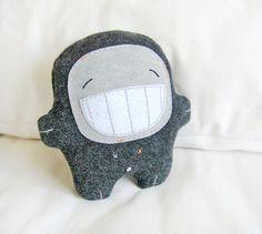 Bambak grande sorriso farcito creatura di Bambaks su Etsy