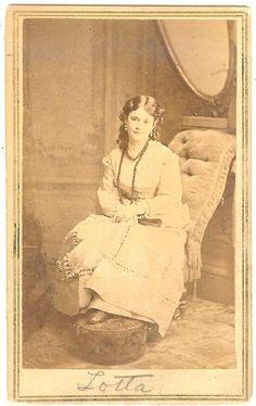 Matthew Brady 1866 Theatre CDV Gold Rush Actress Lotta Crabtree | eBay