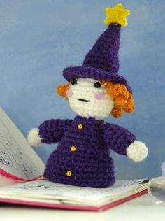 FREE amigurumi pattern for the little wizard.Make your own cute crochet doll! :) Worsted weight yarn and a 5/F hook suggested. https://www.etsy.com/listing/161971425 #amigurumi #pattern #crochet
