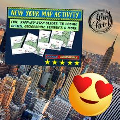 Take your classroom through New York using this State Map Activity! Fun, engaging, and no prep required. Follow-along 25-slide PPT. #newyorkmap #educator #iteachtoo #history #funlessons #gregsgoods #makinglearningfun #lessonpieces #insta Geography Lesson Plans, Family Feud Game, Social Studies Projects, First Day Of School Activities, Teacher Helper, Grades, Easel Activities, Student Data, Map Of New York