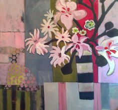 """Annie O'Brien Gonzales-Contemporary Abstract Still Life Art Painting """"At Last"""" by Santa Fe Artist Annie O'Brien Gonzales"""