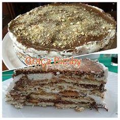 Bolo de bolacha de chocolate...     uma versão diferente de bolo de bolacha e que saiu muito bem.         Ingredientes:   200 gr. de Choco...