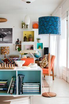 Airbnb, interior design, interior styling, retro design, design Airbnb, New Zealand, Wellington