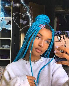 43 Cool Blonde Box Braids Hairstyles to Try - Hairstyles Trends Purple Box Braids, Brown Box Braids, Colored Box Braids, Large Box Braids, Short Box Braids, Jumbo Box Braids, Black Braids, Braided Hairstyles Updo, Box Braids Hairstyles For Black Women