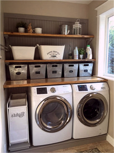 Below are the Farmhouse Laundry Room Storage Decoration Ideas. This article about Farmhouse Laundry Room Storage Decoration Ideas was posted under the category by our team at April 2019 at pm. Hope you enjoy it and don't forget . Rustic Laundry Rooms, Laundry Room Layouts, Farmhouse Laundry Room, Small Laundry Rooms, Laundry Room Organization, Laundry Room Design, Farmhouse Decor, Bathroom Storage, Modern Farmhouse