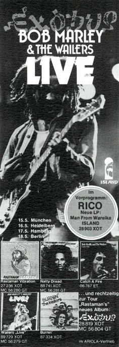 Bob Marley And The Wailers - Voice Of The Sufferers - Memorabilia Tour Posters Bob Marley Concert, Bob Marley Songs, Reggae Bob Marley, Bob Marley Quotes, Robert Nesta, Nesta Marley, The Wailers, Tour Posters, Concert Posters