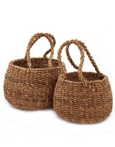 Store away your belongings in this essential hand-woven basket.