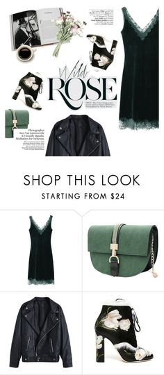 """wild rose"" by punnky ❤ liked on Polyvore featuring Avenue, Dolce&Gabbana and Assouline Publishing"