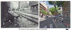 Av. Carrilet con carrer comerÇ año 1986 y en la actualidad.