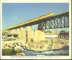 Union Pacific RR Streamliner City of Portland American Falls ID color print