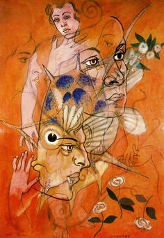 "surrealism: "" Catax by Francis Picabia. Art And Illustration, Illustrations, Marcel Duchamp, Man Ray, Salvador, Hans Richter, Francis Picabia, Max Ernst, Action Painting"