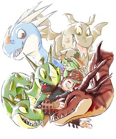 DRAGONS!! by Merpix the Fox #HTTYD #fanart
