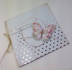 Card designed by Julie Hickey using Craftwork Cards Julie Loves Butterfly Wreath kit