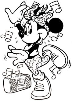 Mickey And Minnie Christmas Coloring Pages