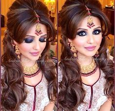 9 List Hairstyle for Indian Wedding Function, braids hairstyles indian hairstyles Indian Party Hairstyles, Long Face Hairstyles, Bride Hairstyles, Beautiful Hairstyles, Long Hair Wedding Styles, Short Hair Styles, Wedding Updo, Wedding Dinner, Wedding Bride