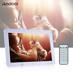 [ $67.99 ] Andoer 12 Inch LED Digital Photo Frame 1280 * 800 Human Motion Induction Detection with Remote Control Support MP3/MP4/Calendar/Alarm Clock Function Christmas Gift