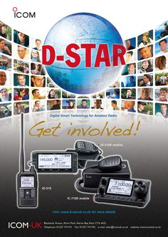 Our latest advert for Radcom magazine. For more details about D-STAR (Digital Amateur Radio, please visit our microsite: http://www.d-staruk.co.uk #icom #hamradio #dstar