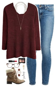 """when he smiles at you for no reason.❤️"" by kaley-ii ❤ liked on Polyvore featuring Paige Denim, Charlotte Russe, Prism, Daniel Wellington, NARS Cosmetics, Ariel Gordon and Kendra Scott"