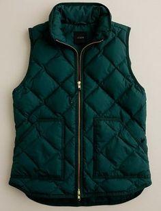 J. Crew hunter green quilted vest
