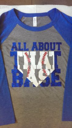 All about that Base 3/4 Sleeve UNISEX Baseball by FrilleysDesigns