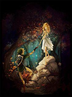 Link and Zelda  The Legend of Zelda art