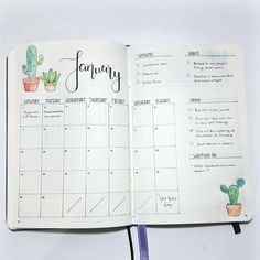 Monthly Log Inspiration - Bullet Journal
