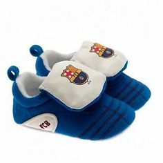 FC Barcelona Football Club New Born Infant Velcro Crib Shoes Official Product