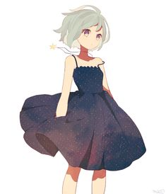 anime girl lovely dress
