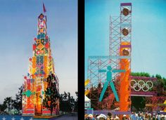 Pop-up city … Sussman and Jerde's designs The LA Olympics used scaffolding and banners to great effect.