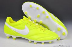 Nike The Premier FG Cleats Fluorescent yellow/white Soccer Cleats