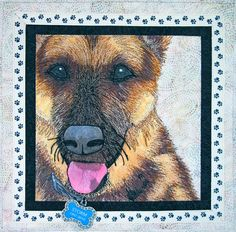 """Storm"" Fiber Art Pet Portrait by Nanette S. Zeller.  Eye candy gallery."