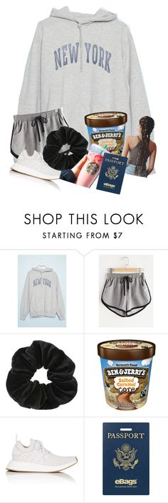 """Comfy plane ride"" by volleyball011 ❤ liked on Polyvore featuring Miss Selfridge, adidas and eBags"