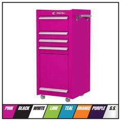 The Original Pink Box Salon Cart, Tool Organization, Baking Organization, Tool Cart, Unique Shelves, Ecommerce Web Design, Home Workshop, Power Strip