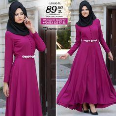 Neva Style - Mürdüm Elbise #tesettur #tesetturabiye #tesetturgiyim #tesetturelbise #tesetturabiyeelbise #kapalıgiyim #kapalıabiyemodelleri #şıktesetturabiyeelbise #kışlıkgiyim #tunik #tesetturtunik