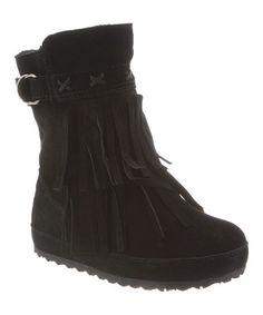 Black Krystal Boot - Girls #zulily #zulilyfinds