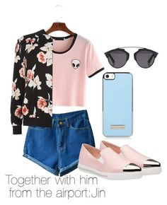 """Together with him  from the airport:Jim"" by viva73319 on Polyvore featuring мода, New Look, Miu Miu и Christian Dior"