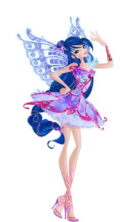 Musa is the Guardian Fairy of Music from Melody and one of the founding members of the Winx Club and a former student of Alfea College for Fairies. She was the fifth Winx girl introduced, after Bloom, Stella, Flora and Tecna. Winx Magic, Fitness Workouts, Bloom Winx Club, Little Poni, Muse Art, Club Parties, Maquillage Halloween, Club Outfits, Faeries