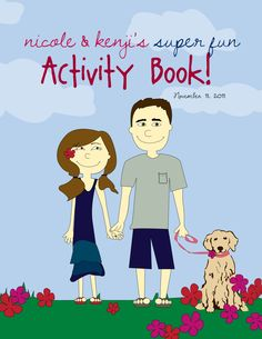 Personalized Wedding Activity Book for the kiddos