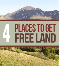 4 Places To Find Land for Free