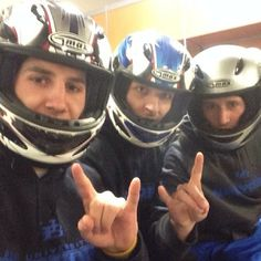 @Joe Licata, @m_weiser, and @ron_willoughby are ready to burn rubber with their #HornsUp! #BowlingBulls #uBuffalo Join us at: http://www.buffalo.edu/goubbulls.html