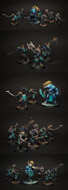 CoolMiniOrNot - Silver Tower Tzaangors & Orgoid Thaumaturge by d|b