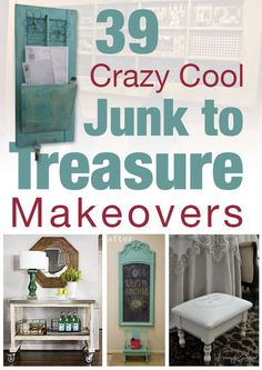 Crazy Cool Junk to Treasure Makeovers :: Grace Love's clipboard on