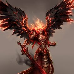 concept art for Might and Magic Heroes copyright by UBI soft Fantasy Girl, Dark Fantasy, Fantasy Races, Angels And Demons, Fallen Angels, Online Rpg, Fandom Games, Angel Warrior, Scary Halloween Decorations