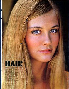 Cybill Shepherd and a simple, pretty hair style.